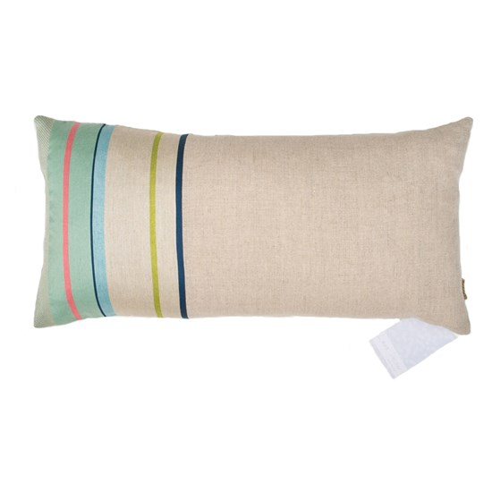 Aldeburgh Stripe cushion in blue & green
