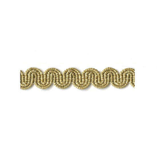 arco metallic braid - pale gold