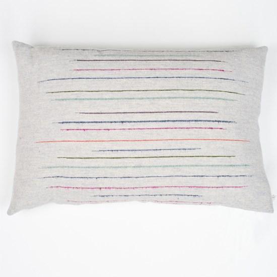 chalkney stripe cushion in soft grey