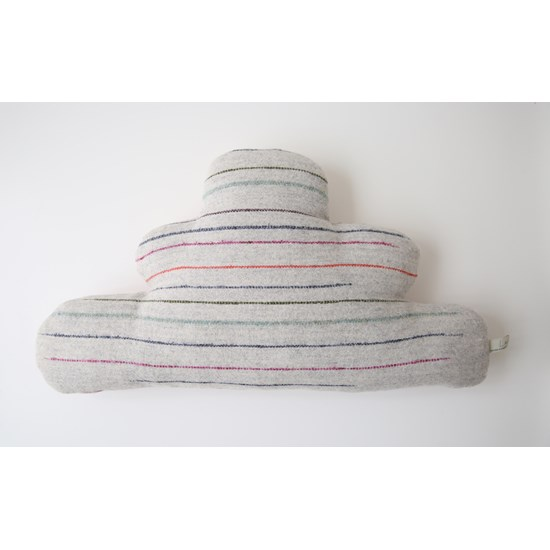 Cleo cloud cushion in soft grey