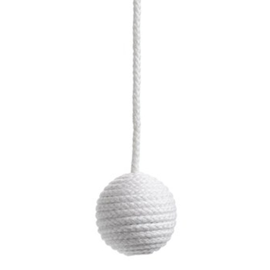 cotton ball blind pull - white