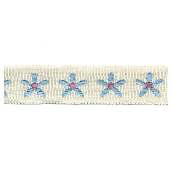 daisy chain trim - powder blue