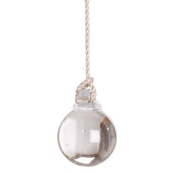 glass ball light pull -  vanilla cord