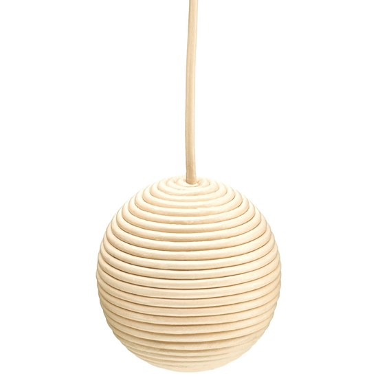 leather ball light pull -  cream