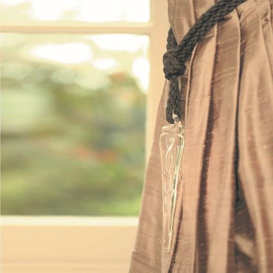 large glass icicle curtain tiebacks