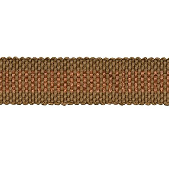 glitter striped trim - copper