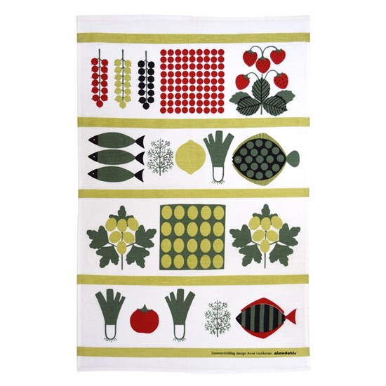 Summer Lunch tea towel
