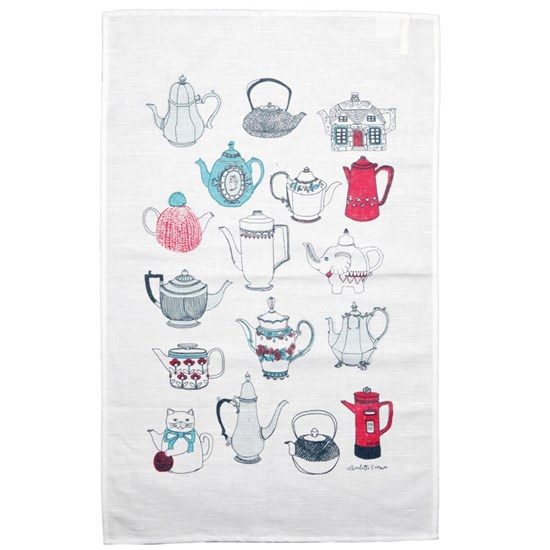 always warm the tea pot tea towel