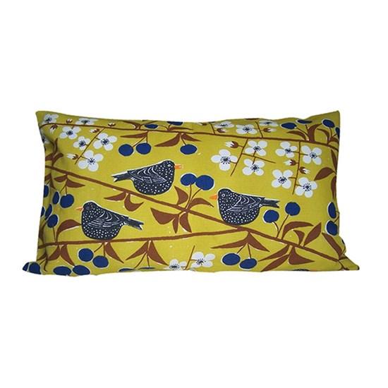 cherry orchard cushion - mustard