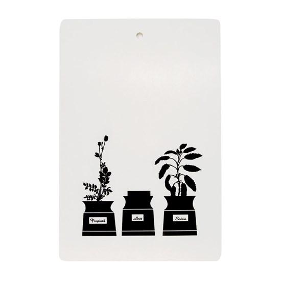 herb garden chopping board - black