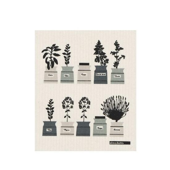 herb garden sponge cloth - sage green