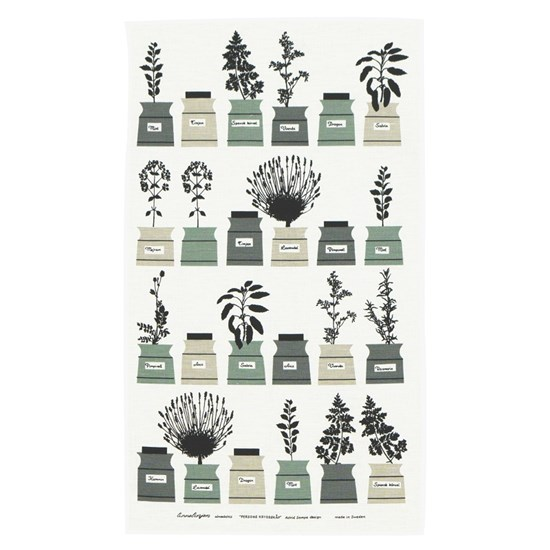 herb garden tea towel - sage green