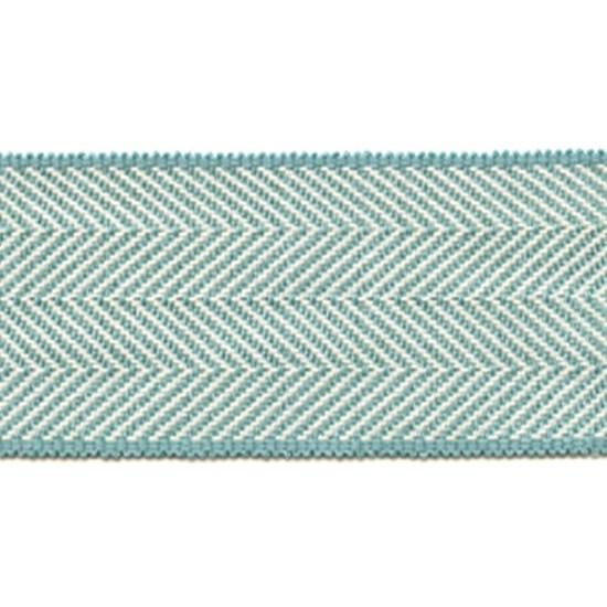 herringbone trim - portobello blue