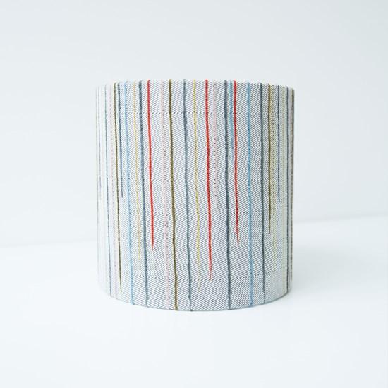 Chalkney Stripe Tub Lampshade - Soft Grey