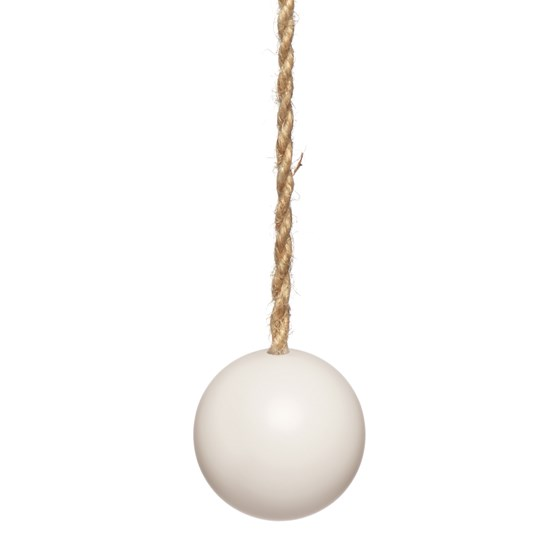 lewes light pull - matte vintage white