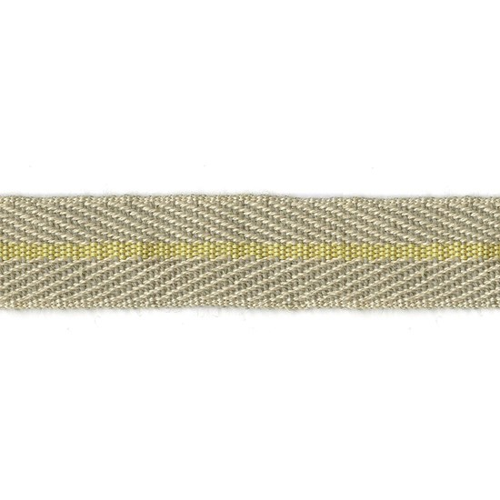 nautical stripe trim - sunshine yellow