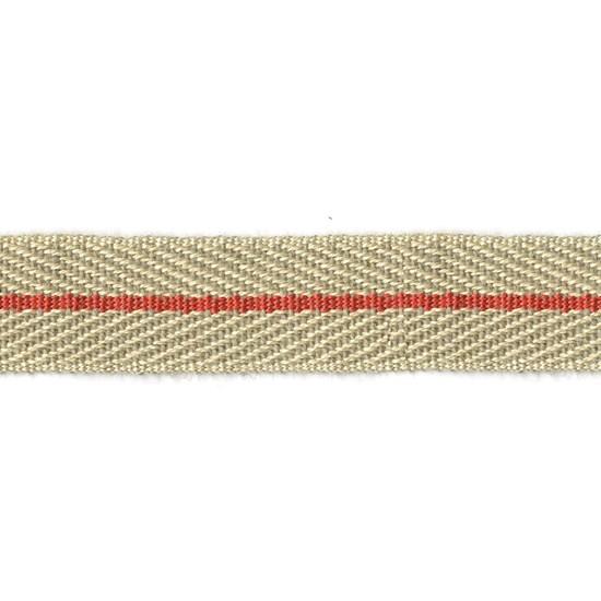 nautical stripe trim - strawberry red