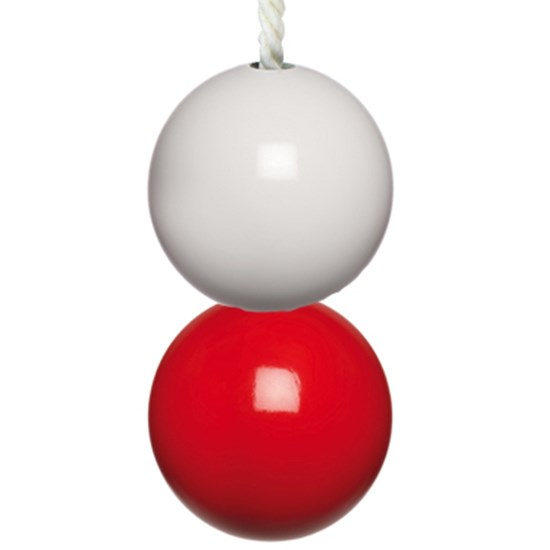 nautical light pull - lighthouse red & white