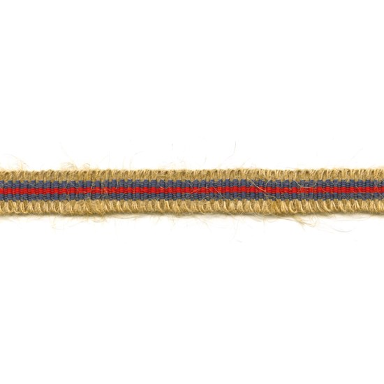 rio striped jute trim - riviera