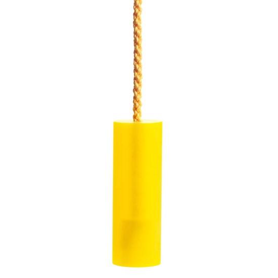 sandblasted acrylic blind pull - yellow
