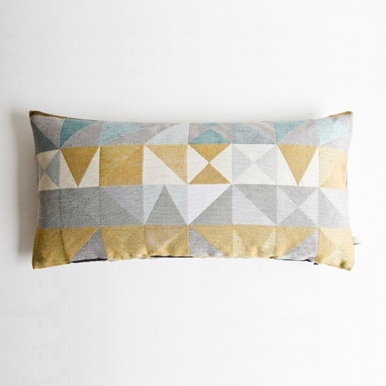 Southwold Geometric Cushion Mustard