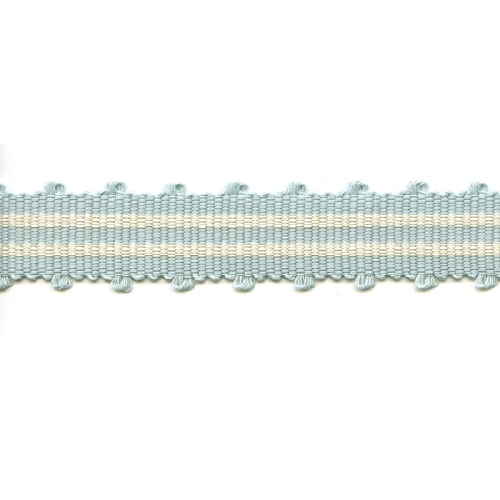 tenby striped trim - beach hut sky blue
