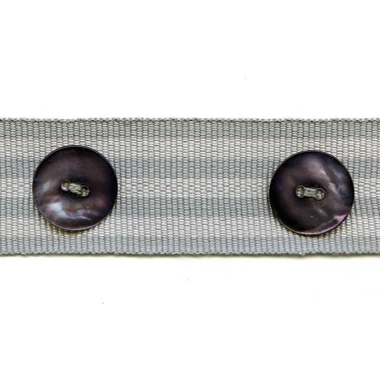 whitstable stripe button trim - sea mist