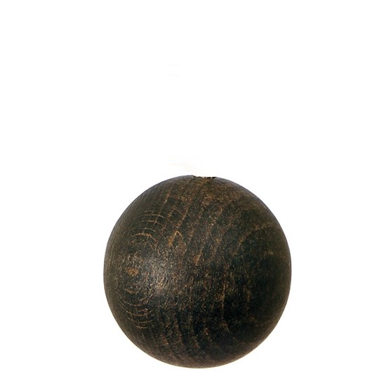 wooden ball roman blind pull -  cocoa