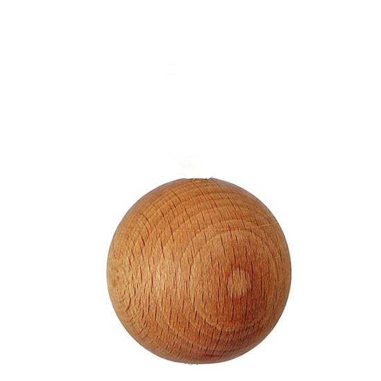 wooden ball roman blind pull -  natural