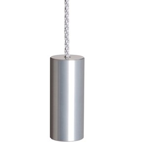 aluminium silver anodised cylinder blind pull for window blinds