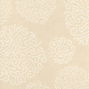 asha is a roller blind fabric print of trees made from small white dots on a nutmeg brown background
