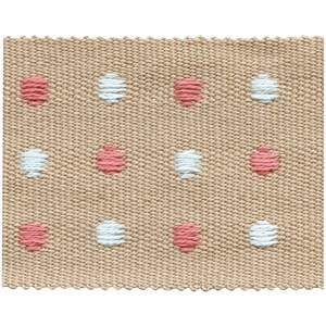 almond coloured dot braid trimming passementerie woven trim for interiors