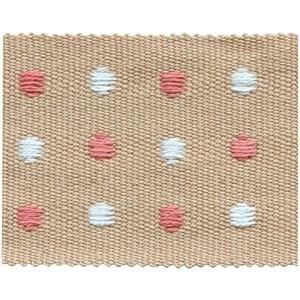 almond coloured dot braid trimming passementerie woven trim for interiors