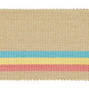 fresco wide stripe interior woven trimming braid in neoplitan colours