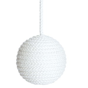 hand-wrapped shell-white cotton cable pulls for bathroom and toilet light pulls