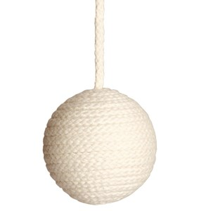 hand-wrapped seagull-white cotton cable light pulls for the bathroom or toilet