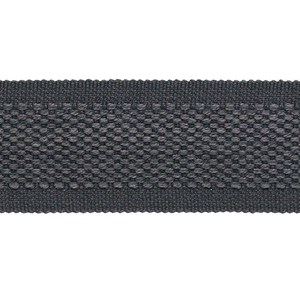 decorative trimming braid in subtle wool/cotton weave in slate grey colour
