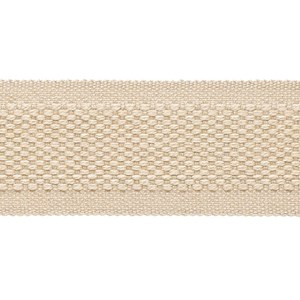decorative trimming braid in subtle wool/cotton weave in straw off-white colour