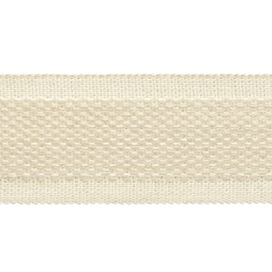 decorative trimming braid in subtle wool/cotton weave in wax off-white colour