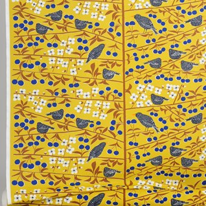cherry orchard fabric - mustard yellow