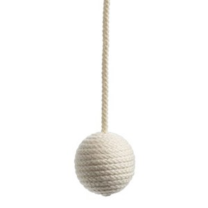 cotton ball blind pull - ivory