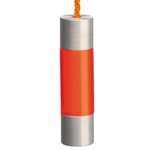fuse blind pull for window blind with acrylic neon orange colour section and aluminium caps