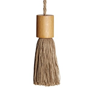window roller blind pull tassel in nutmeg