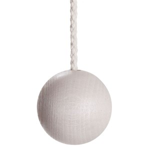 wooden ball light pull -  whitewash