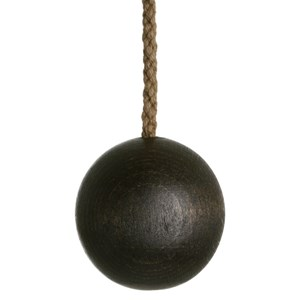 wooden ball blind pull -  cocoa