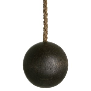 wooden ball light pull - cocoa