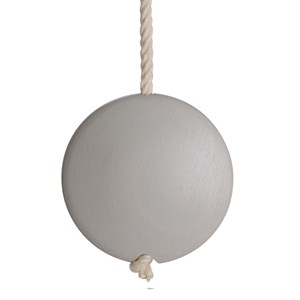 storm grey coloured lunar disc window blind pull or acorn