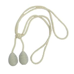 small glitter tieback - silver