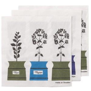 herb garden paper napkins