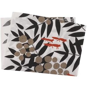 red fox tea towel